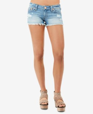 Joey Flap Cutoff Denim Shorts In Third Quarter