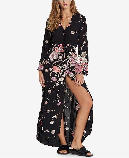 Kimono Billabong Juniors' Black Dress Printed rr8qEU