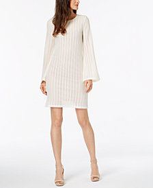 MICHAEL Michael Kors Jacquard Bell-Sleeve Dress