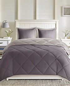 Madison Park Essentials Larkspur Reversible 3-Pc. Comforter Sets