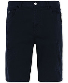 "A|X Armani Exchange Men's Slightly Distressed 9"" Inseam Bermuda Shorts"