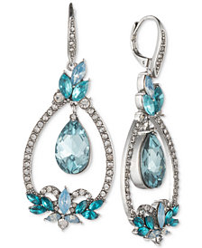 Jenny Packham Silver-Tone Pavé & Stone Orbital Drop Earrings