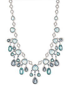 "Jenny Packham Silver-Tone Pavé & Stone Statement Necklace, 16"" + 2"" extender"