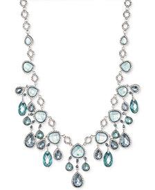 """Jenny Packham Silver-Tone Pavé & Stone Statement Necklace, 16"""" + 2"""" extender"""