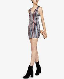 BCBGeneration Adobe Stripes Sleeveless Waist-Tie Romper