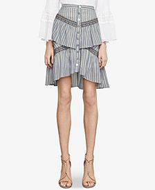 BCBGMAXAZRIA Tiered Ruffle Stripe Skirt