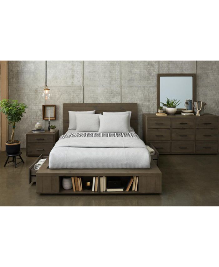 Furniture Brandon Storage Queen Platform Bed, Created for Macy's & Reviews - Furniture - Macy's