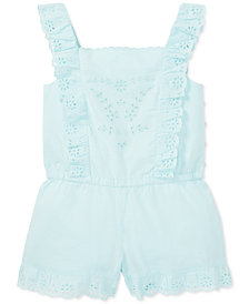 Polo Ralph Lauren Toddler Girls Ruffled Cotton Romper