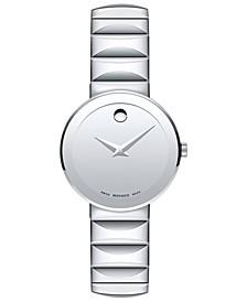 Women's Swiss Sapphire Stainless Steel Bracelet Watch 28mm