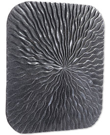 Zuo Square Wave Dark Gray Large Plaque