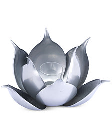 Zuo Lotus Silver-Tone Candle Holder