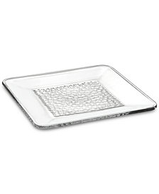 Orrefors Pearl Square Crystal Platter