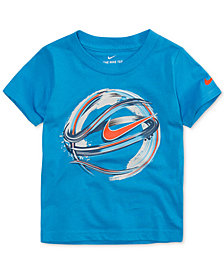 Nike Little Boys Basketball-Print Cotton T-Shirt