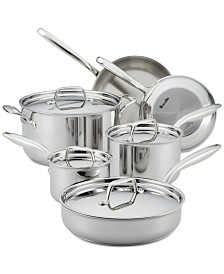 Breville Thermal Pro Clad Stainless Steel 10-Pc. Cookware Set