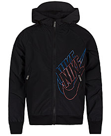Nike Little Boys Sportswear Graphic Windrunner Hooded Jacket