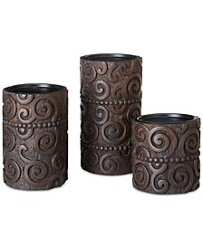 Ink & Ivy Pacheco Carved Wood & Iron Candle Holder Collection