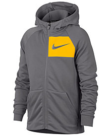 Nike Big Boys Logo-Print Zip-Up Hoodie