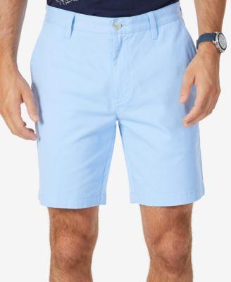 Tommy Hilfiger Mens Navy Flat Front Chino Walking Shorts