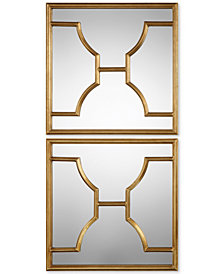 Uttermost Misa Gold Square Mirrors, Set of 2