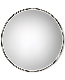 Stefania Beaded Round Mirror