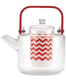 BonJour Reverie 42-Oz. Handblown Glass Teapot