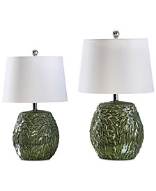 Abbyson Living Set of 2 Krisel Green Table Lamps