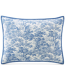 Martha Stewart Collection Forest Toile 100% Cotton Standard Sham, Created for Macy's