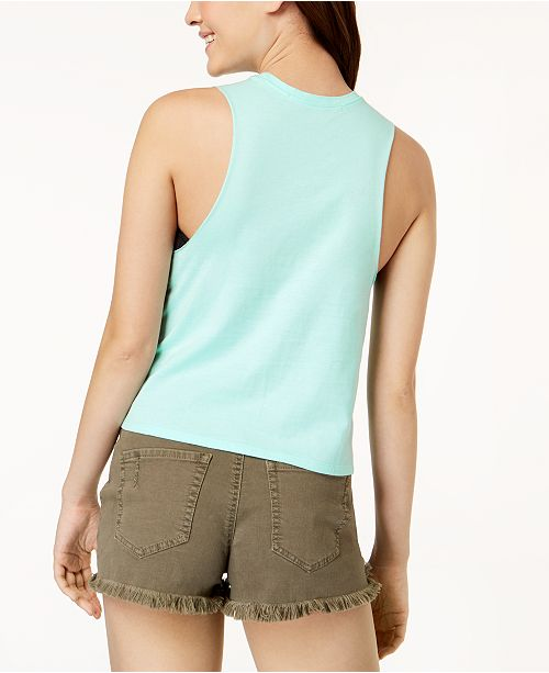 Float Green Graphic Pretty Mint Out It Top Tank Rebellious Juniors' gwwEzp