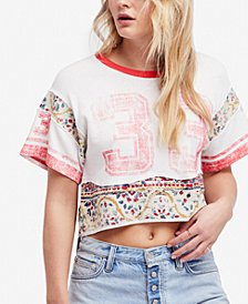 Free People Nicky Cropped Graphic Contrast T-Shirt