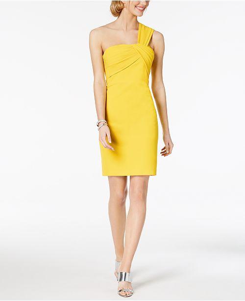 Vince Camuto One-Shoulder Sheath Dress - Dresses - Women - Macy s 76af4059a5