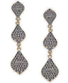 I.N.C. Gold-Tone Crystal Triple Drop Earrings, Created for Macy's