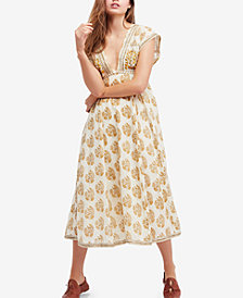 Free People Riakaa Cotton Printed Midi Dress