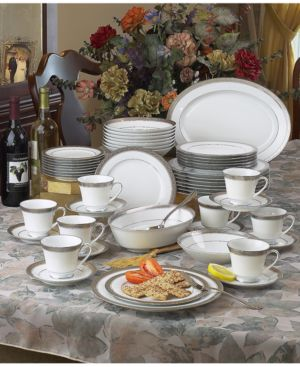 Noritake Dinnerware, Crestwood Platinum 50 Piece Set