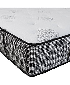"Chic Couture Memory Foam and Wrapped Coil Hybrid 12"" Firm Mattress, Quick Ship, Mattress in a Box- California King"