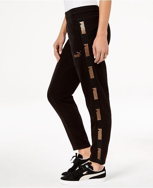5e2388ef25dd Puma Metallic-Logo Track Pants   Reviews - Pants   Capris - Women ...