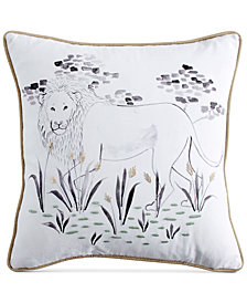 "Peri Home Leo Beaded Graphic-Print 14"" Square Decorative Pillow"