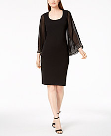 Calvin Klein Statement-Sleeve Sheath Dress