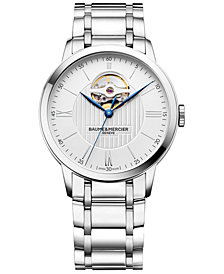 Baume & Mercier Men's Swiss Automatic Classima Stainless Steel Bracelet Watch 40mm