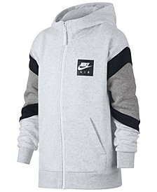 Nike Big Boys Air-Print Colorblocked Zip-UP Hoodie