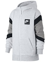 5721ea788fad Nike Big Boys Air-Print Colorblocked Zip-UP Hoodie