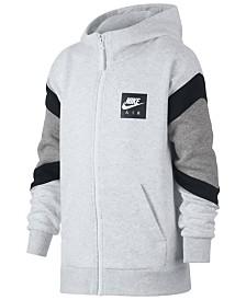 buy online e94d9 fecb8 Nike Big Boys Air-Print Colorblocked Zip-UP Hoodie