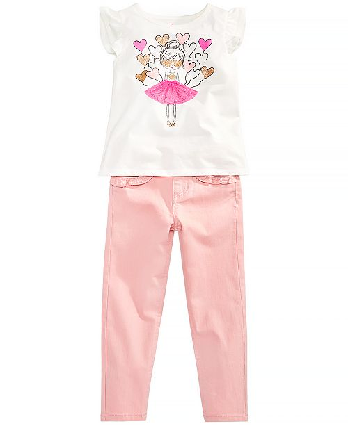 Epic Threads Toddler Girls Balloon T-Shirt & Ruffle Pocket Jeans, Created for Macy's