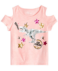 Epic Threads Little Girls Sequin Graphic-Print T-Shirt, Created for Macy's