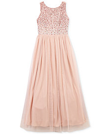 Speechless Little Girls Jeweled Maxi Dress