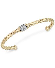 Diamond Cluster Woven Bangle Bracelet (1/5 ct. t.w.)
