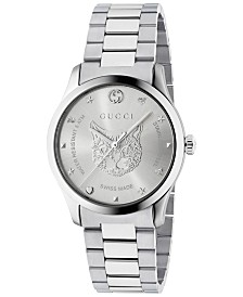 7392a82e36d869 Gucci Women s Swiss G-Timeless Stainless Steel Bracelet Watch 27mm