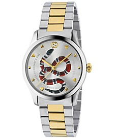 Men's Swiss G-Timeless Two-Tone Stainless Steel Bracelet Watch 38mm