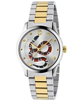 fdfea2bc903 Gucci Men s Swiss G-Timeless Two-Tone Stainless Steel Bracelet Watch 38mm
