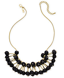 "I.N.C. Gold-Tone Stick & Ball Statement Necklace, 19"" + 3"" extender, Created for Macy's"