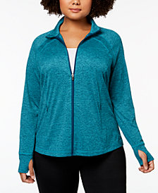 Ideology Plus Size Zip Jacket, Created for Macy's